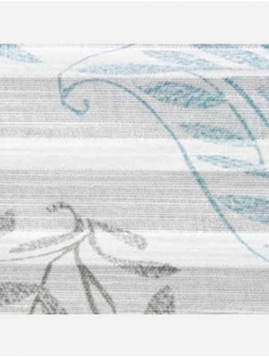 Штора плиссе тканевая Батик серый