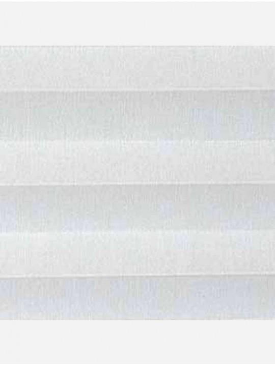 Штора плиссе тканевая Челси белый