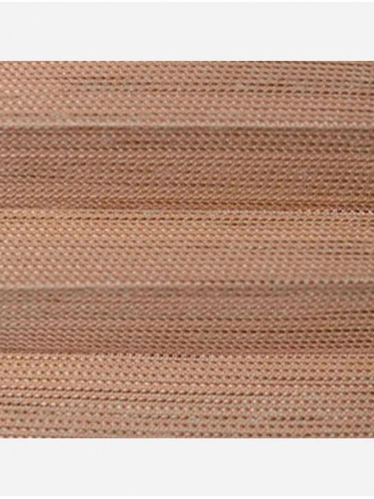 Штора плиссе тканевая Импала светло-коричневый