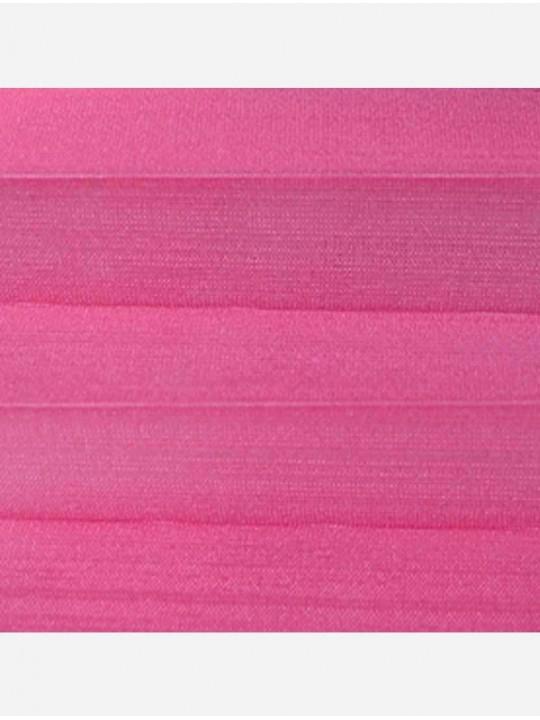 Штора плиссе тканевая Капри розовый