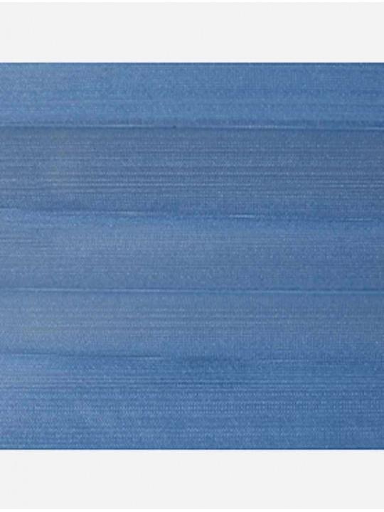 Штора плиссе тканевая Капри синий