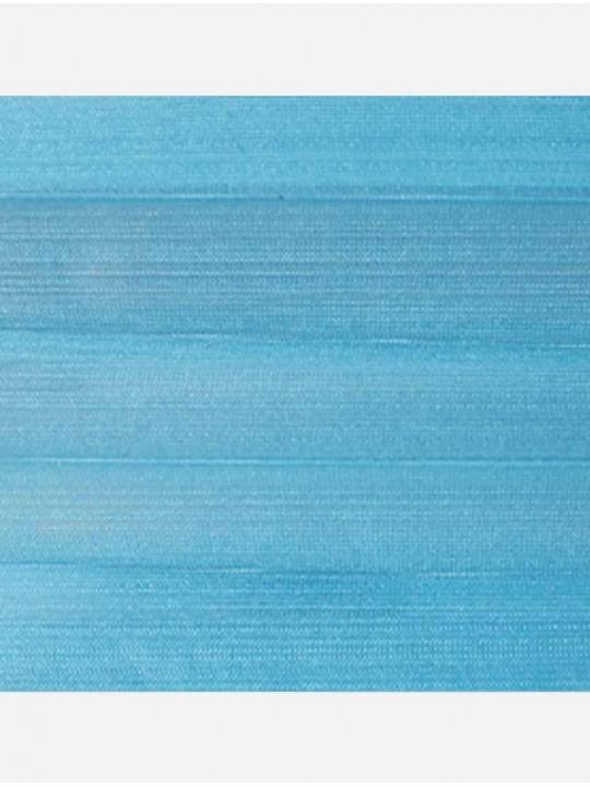Штора плиссе тканевая Капри бирюзовый
