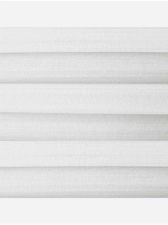 Штора плиссе тканевая Капри перла белый