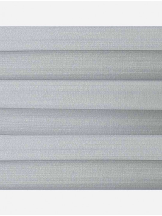 Штора плиссе тканевая Капри перла светло-серый