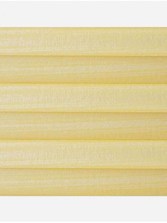 Штора плиссе тканевая Капри перла желтый