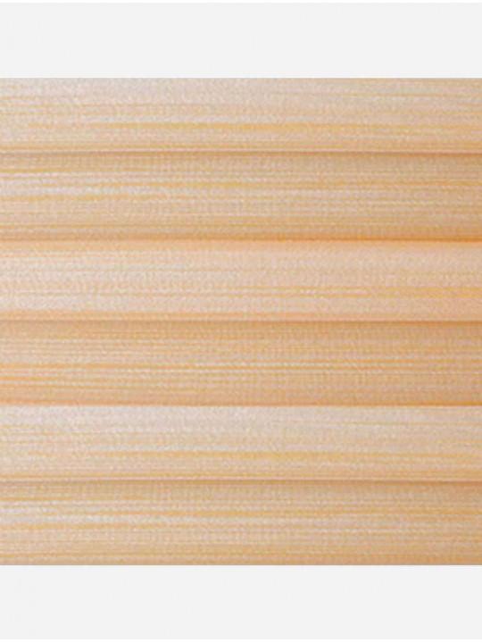 Штора плиссе тканевая Капри перла персиковый