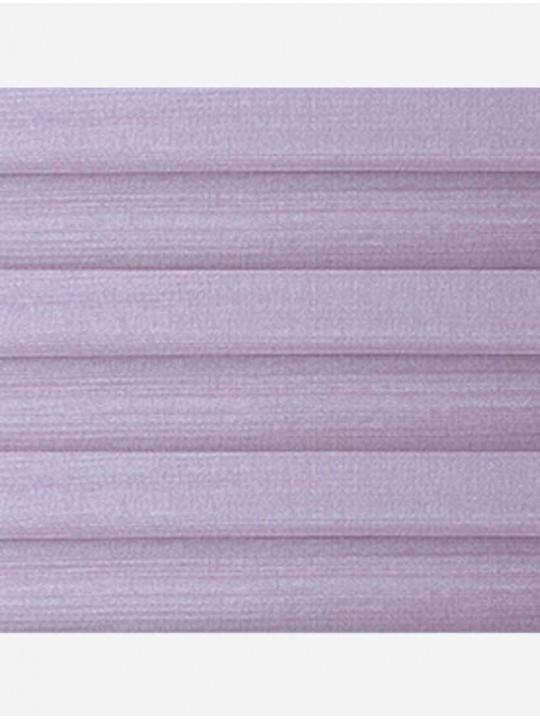 Штора плиссе тканевая Капри перла лиловый