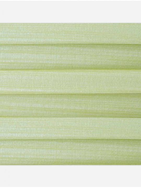 Штора плиссе тканевая Капри перла салатовый