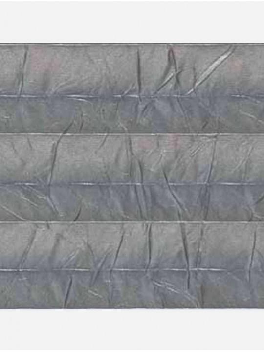 Штора плиссе тканевая Краш металл темно-серый