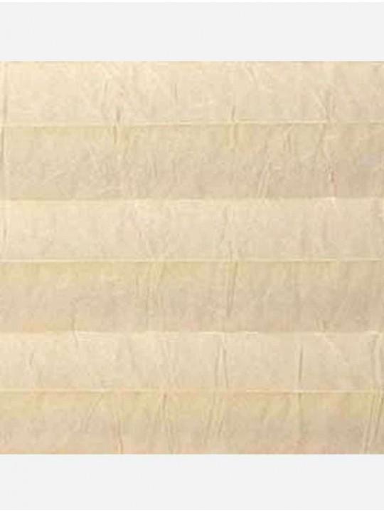 Штора плиссе тканевая Краш перла магнолия