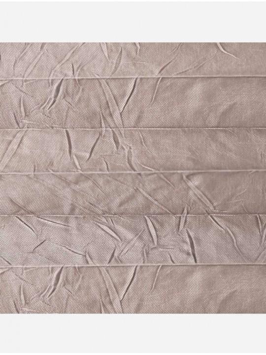Штора плиссе тканевая Краш перла песочный