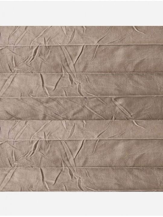 Штора плиссе тканевая Краш перла светло-коричневый