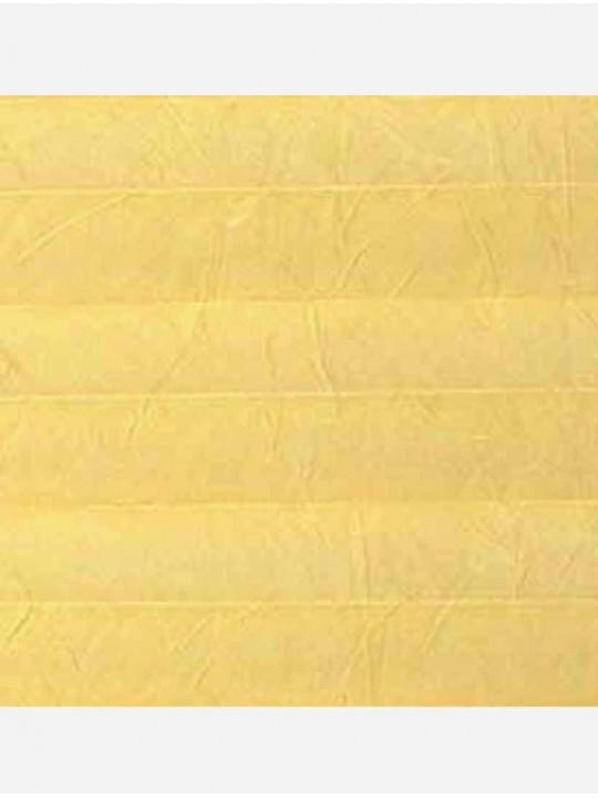 Штора плиссе тканевая Краш перла светло-желтый