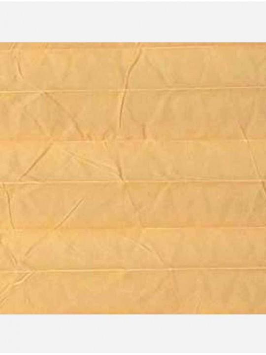 Штора плиссе тканевая Краш перла абрикос