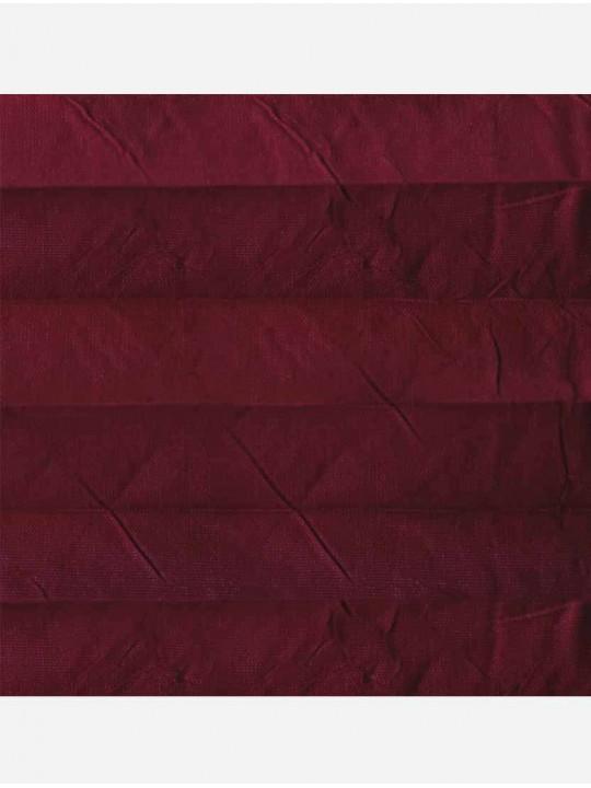 Штора плиссе тканевая Краш перла темно-красный