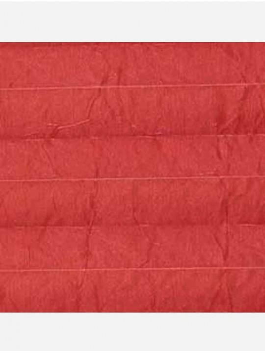 Штора плиссе тканевая Креп перла красный
