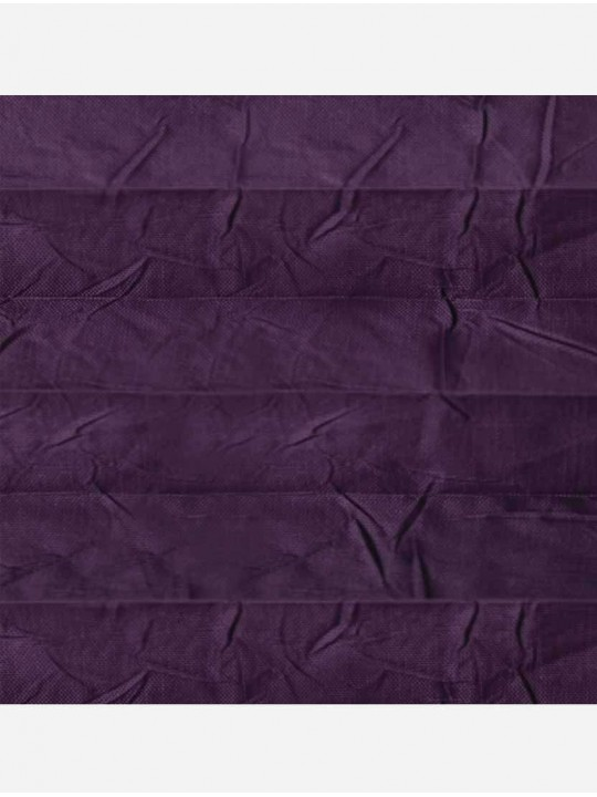 Штора плиссе тканевая Краш перла темный пурпур