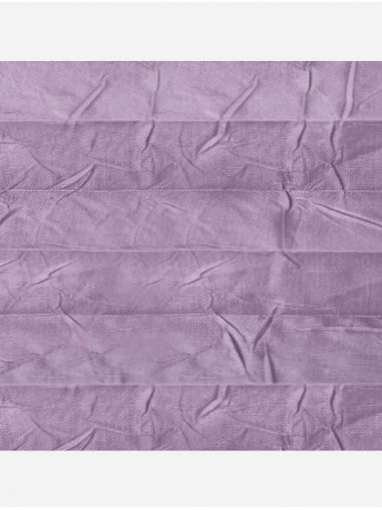 Штора плиссе тканевая Краш перла лиловый