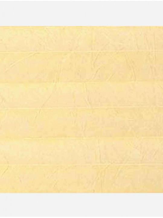 Штора плиссе тканевая Краш перла бледно-желтый