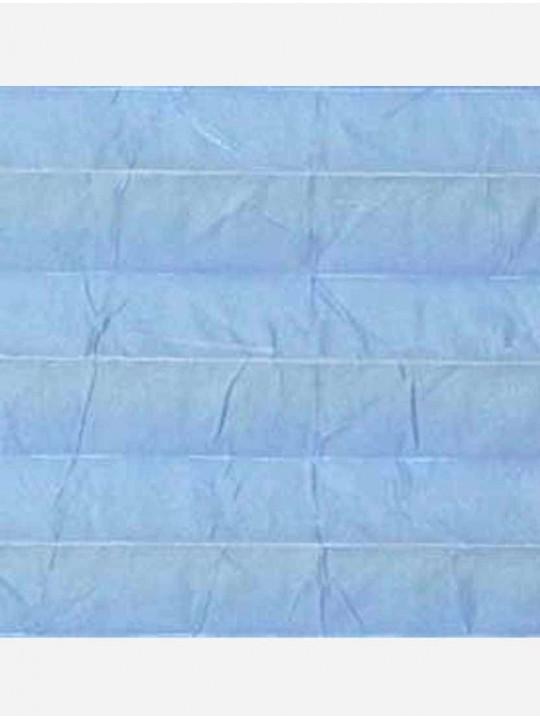 Штора плиссе тканевая Краш перла голубой