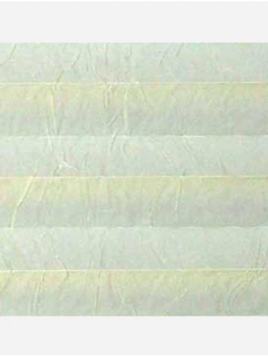 Штора плиссе тканевая Краш перла светло-зеленый
