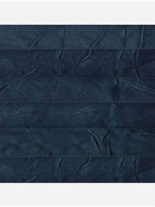 Штора плиссе тканевая Краш перла темно-бирюзовый