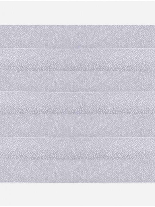 Штора плиссе тканевая Креп светло-серый
