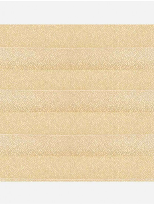 Штора плиссе тканевая Креп карамель