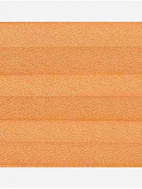 Штора плиссе тканевая Креп перла оранжевый