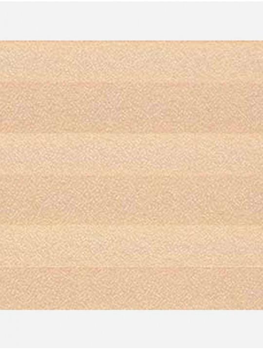 Штора плиссе тканевая Креп персик
