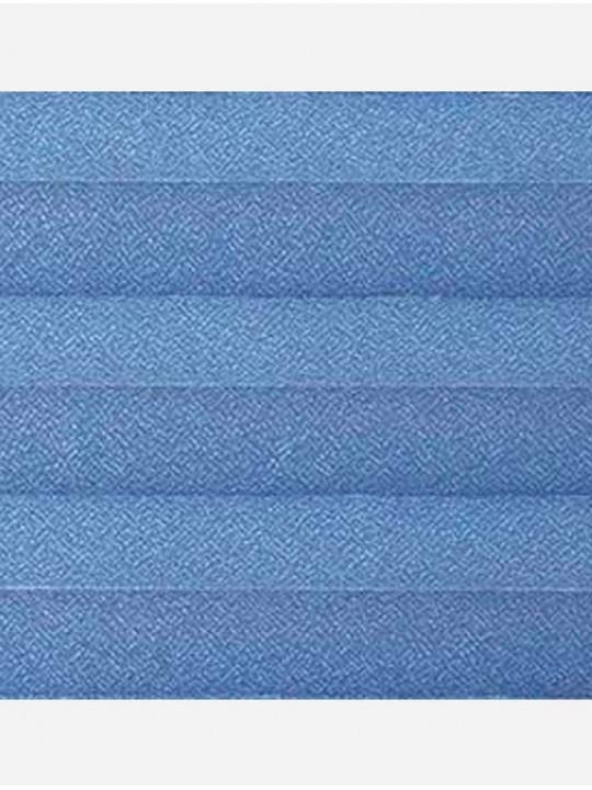 Штора плиссе тканевая Креп синий