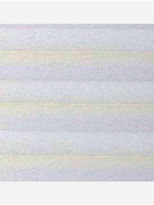 Штора плиссе тканевая Краш перла белый