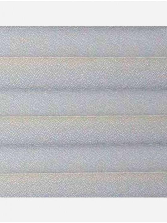Штора плиссе тканевая Креп перла серый