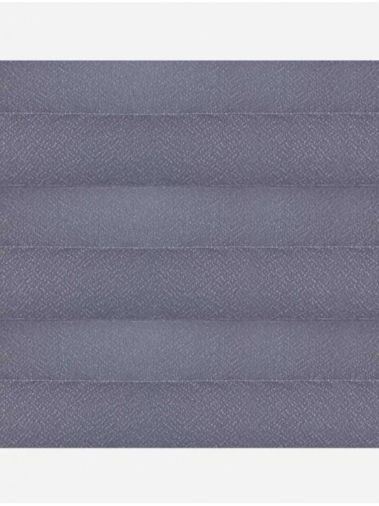 Штора плиссе тканевая Креп перла темно-серый