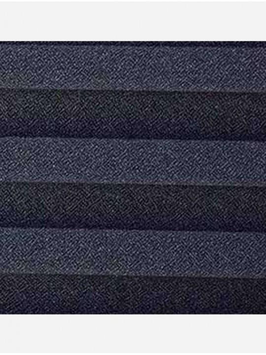 Штора плиссе тканевая Креп перла черный