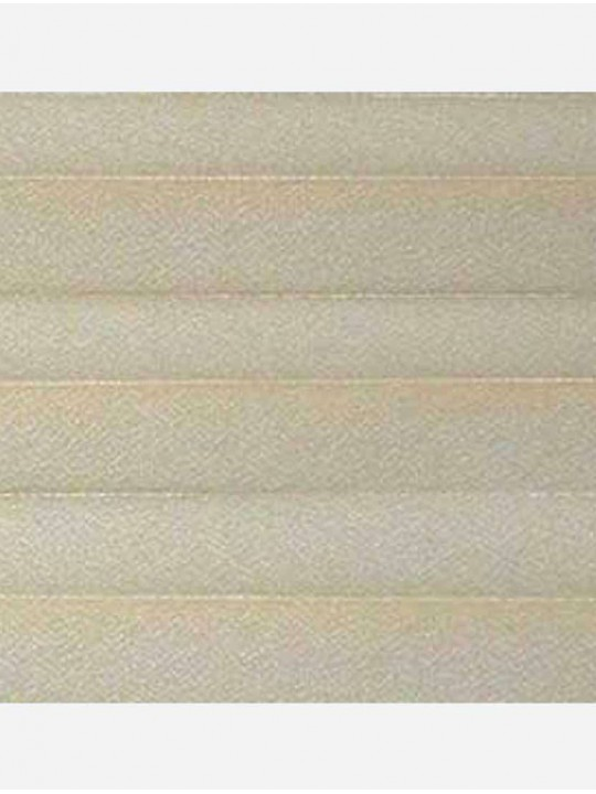 Штора плиссе тканевая Креп перла песочный