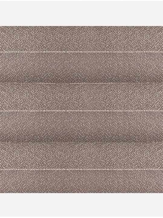 Штора плиссе тканевая Креп перла капучино