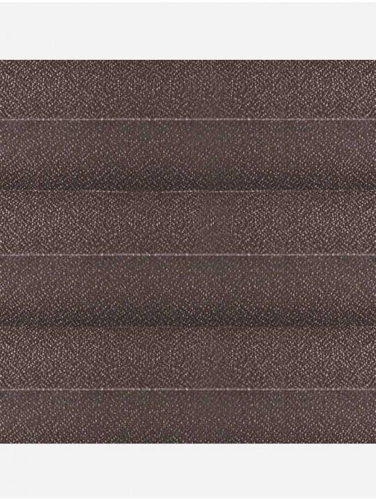 Штора плиссе тканевая Креп перла темно-коричневый
