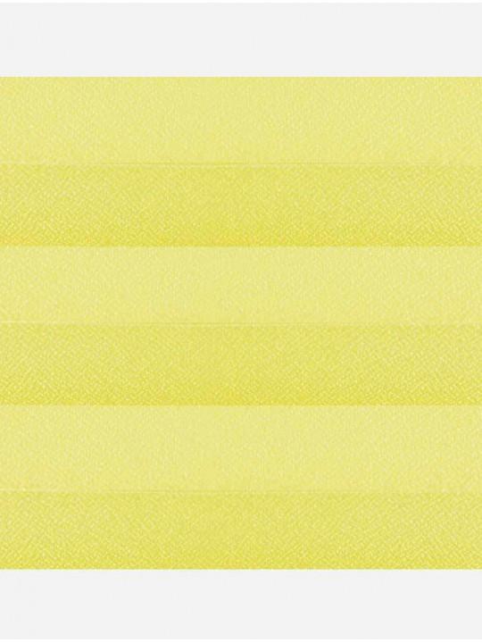 Штора плиссе тканевая Креп перла светло-желтый