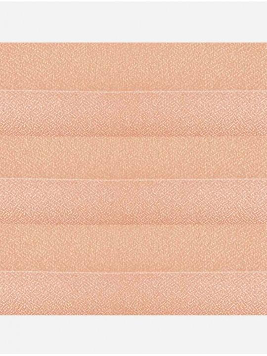 Штора плиссе тканевая Креп перла абрикос