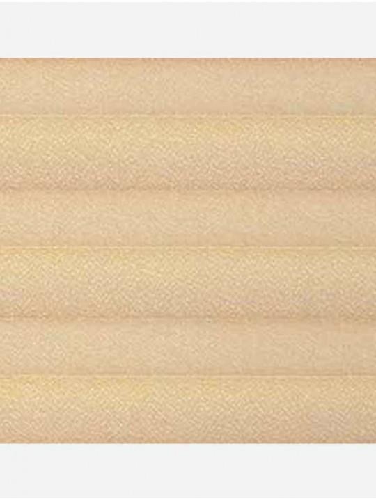 Штора плиссе тканевая Креп перла персик