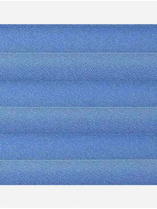 Штора плиссе тканевая Креп перла синий