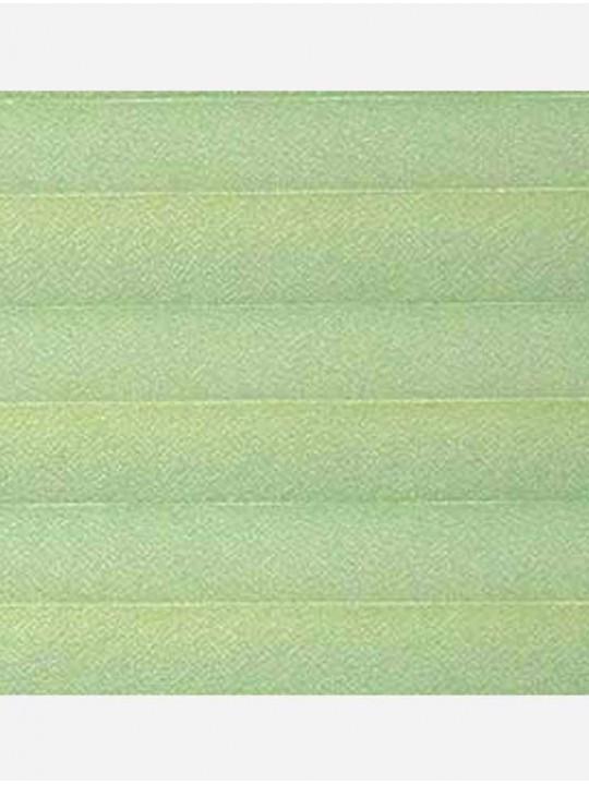 Штора плиссе тканевая Креп перла светло-зеленый