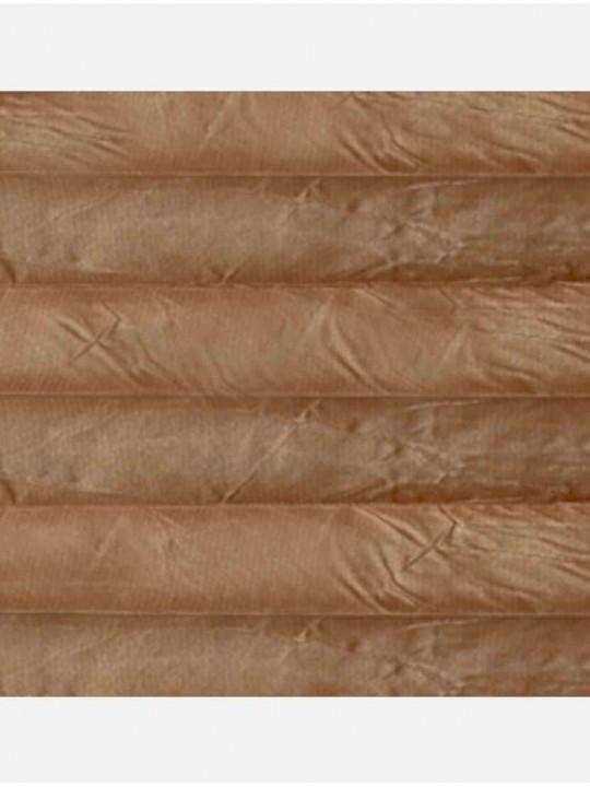 Штора плиссе тканевая Крисп перла темно-бежевый