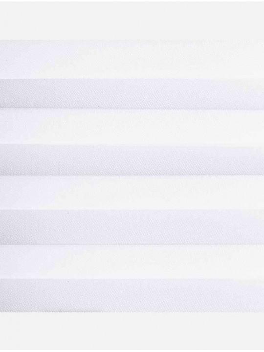 Штора плиссе тканевая Лунд блэкаут белый