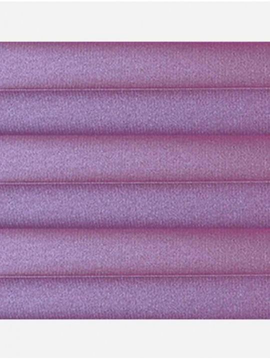 Штора плиссе тканевая Металлик блэкаут лиловый