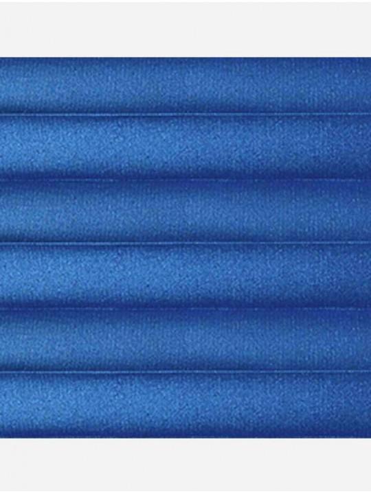 Штора плиссе тканевая Металлик синий