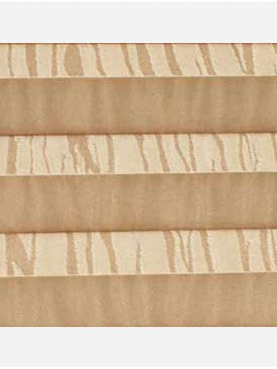 Штора плиссе тканевая Ниагара светло-коричневый