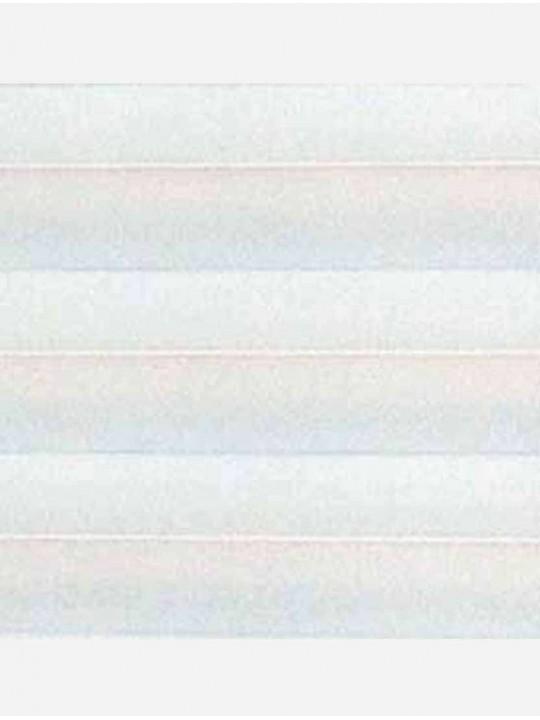 Штора плиссе тканевая Ноктюрн блэкаут белый