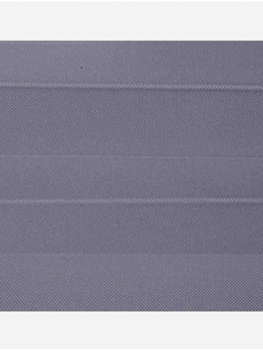 Штора плиссе тканевая Ноктюрн блэкаут темно-серый